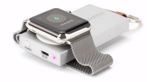 griffins travel power bank l dt die apple watch ohne kabel. Black Bedroom Furniture Sets. Home Design Ideas