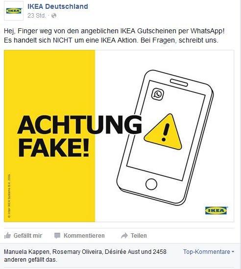 Ikea Gutschein Reaktion