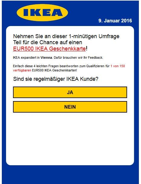 ikea 500 euro gutschein fake. Black Bedroom Furniture Sets. Home Design Ideas