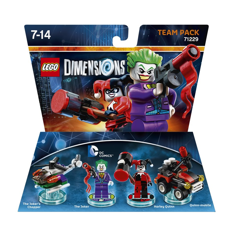 LD TEAM PACK DC COMICS JOKER & HARLEY 2D