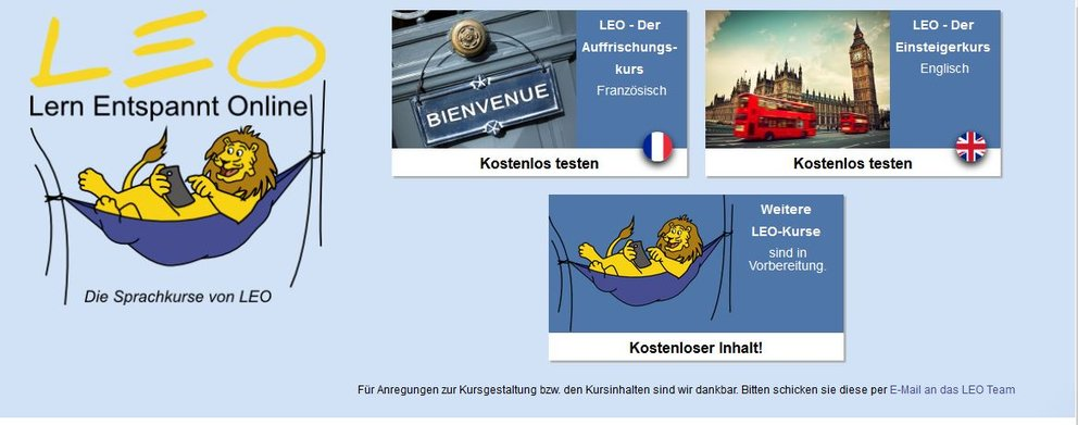 Leo Sprachkurse Online Screenshot
