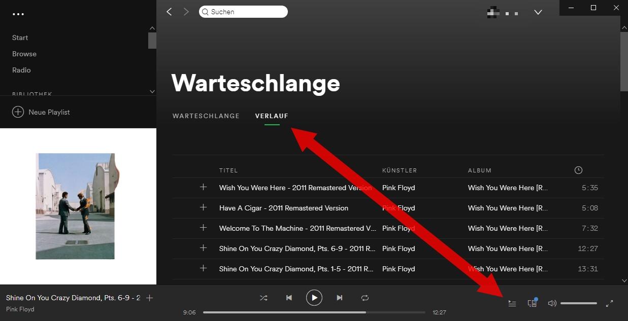 wie kann man einzelne lieder auf spotify