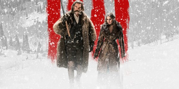 Kurt Russell und Jennifer Jason Leigh in The Hateful Eight