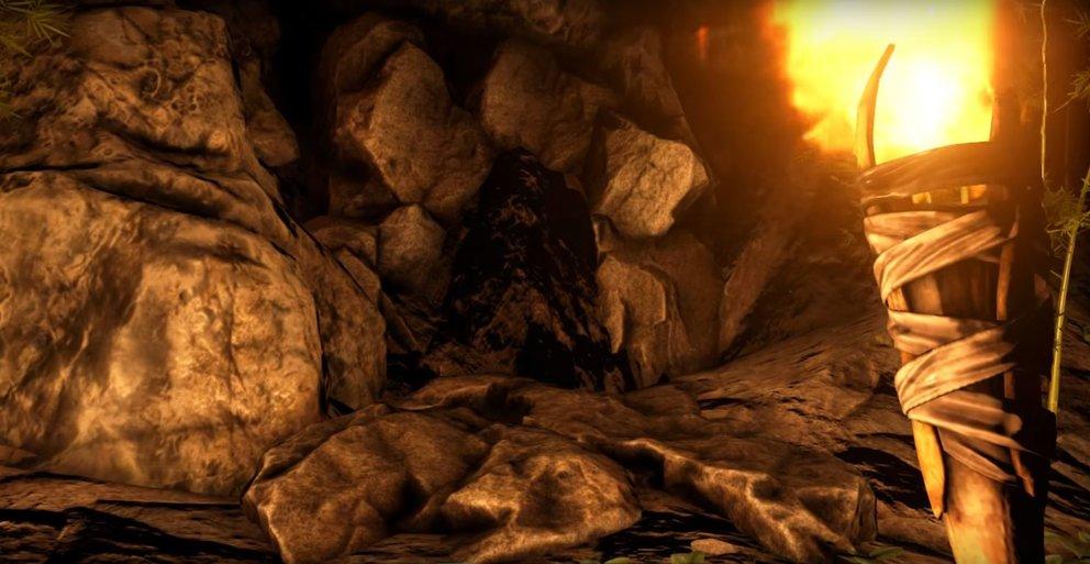 Der Eingang einer Höhle ist etwas dunkler - besonders in der Nacht ist er schlecht zu erkennen