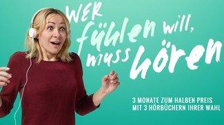 Audible mit 50 Prozent Rabatt: Hörbücher für 4,95 Euro!