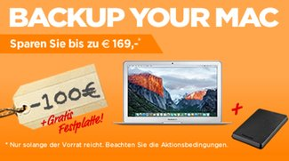 Back up your Mac: Bis zu 100 € Sofortrabatt + 1 TB Toshiba Festplatte im Wert von 69 € gratis dazu!