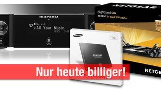 Blitzangebote und CyberSale: Marantz AirPlay für nur 269 Euro statt 399 Euro, SSDS, AirPort-Alternative u.v.m. billiger