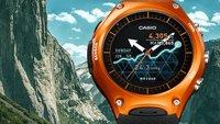 Casio Smart Outdoor Watch WSD-F10: Robuste Smartwatch mit einem Monat Akkulaufzeit vorgestellt [CES 2016]