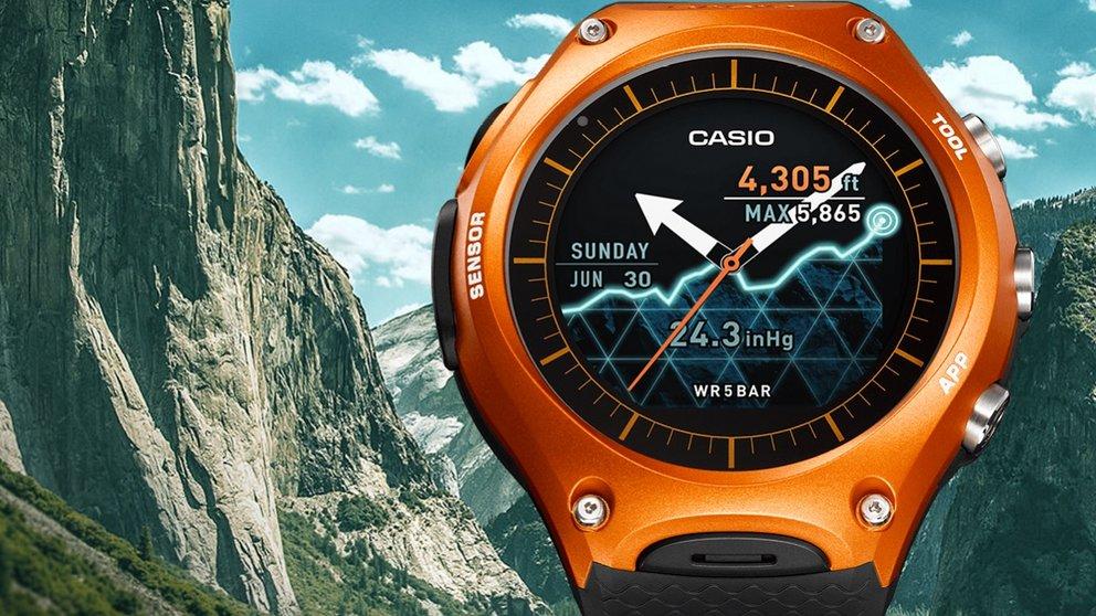 casio smart outdoor watch wsd f10 robuste smartwatch mit. Black Bedroom Furniture Sets. Home Design Ideas