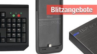 Blitzangebote: Externe Festplatten, Batterie-Hülle, mechanische Tastatur