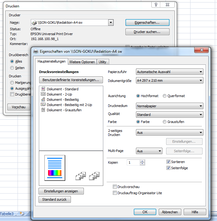 Excel: Querformat einstellen und drucken – So geht\'s – GIGA