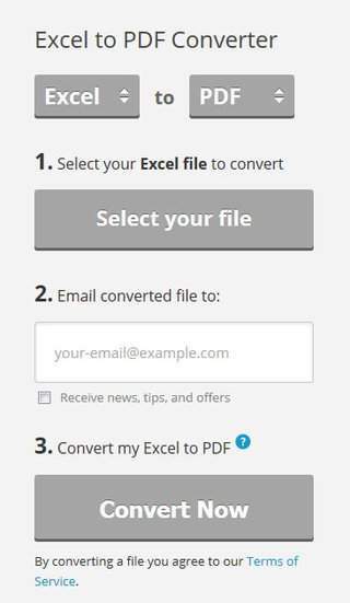 ExcelToPDFonline: Die Webseite wandelt Excel- in PDF-Dateien um.