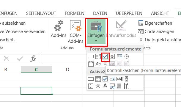 Excel: Formulare erstellen – professionelle Steuerelemente – GIGA