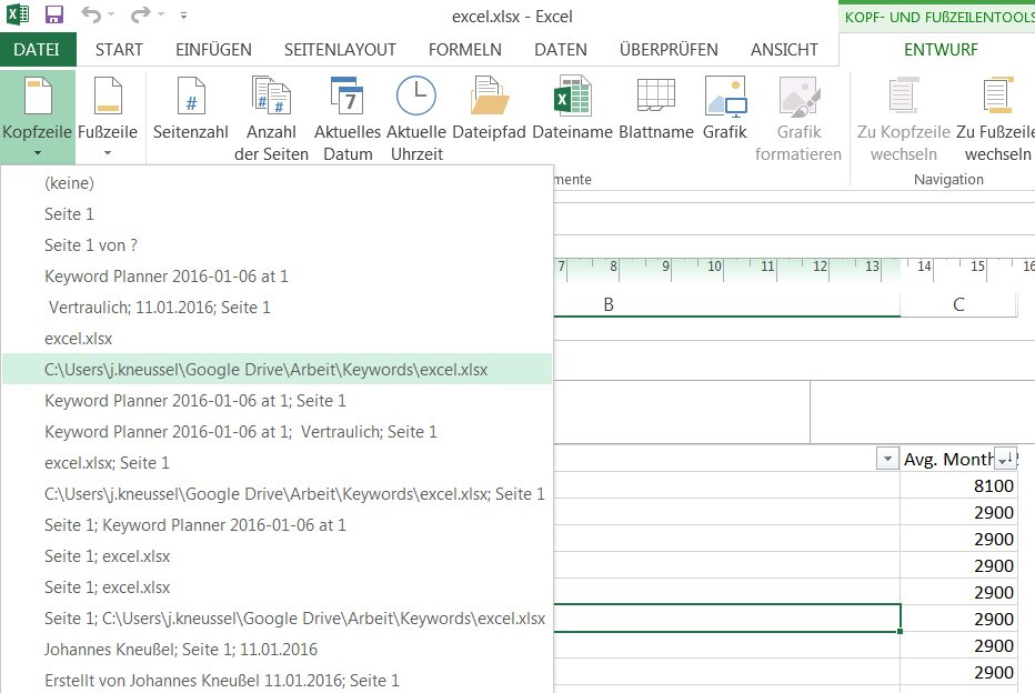 Excel: Kopf- und Fußzeile einfügen, bearbeiten und löschen – So ...