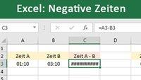 Excel: Negative Zeiten anzeigen und darstellen – So geht's