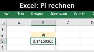 Excel: Pi eingeben, darstellen und rechnen – So geht's
