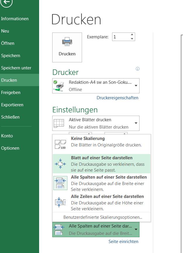 Excel Querformat Einstellen Und Drucken So Gehts Giga