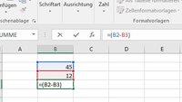 Excel: Subtrahieren & Addieren – so geht's