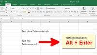 Excel: Zeilenumbruch machen – so geht's
