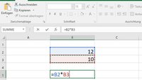 Wie nutzt man mit Excel einen Dreisatz? Giga erklärt