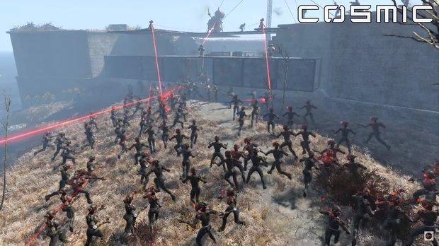 Fallout 4: Dieser YouTuber lässt das Commonwealth gegen 20.000 Roboter antreten