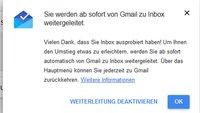 Inbox: Automatische Gmail-Weiterleitung aktivieren oder deaktivieren – So geht's