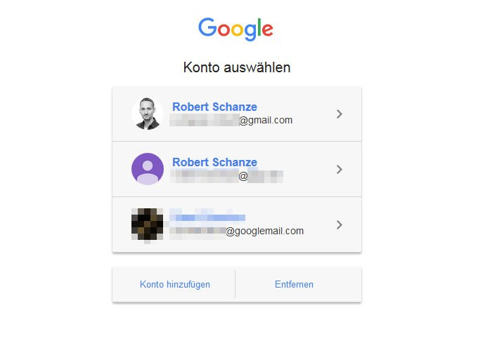 Meldet euch als erstes bei dem Google-Konto an, das ihr als Standard bestimmen wollt.