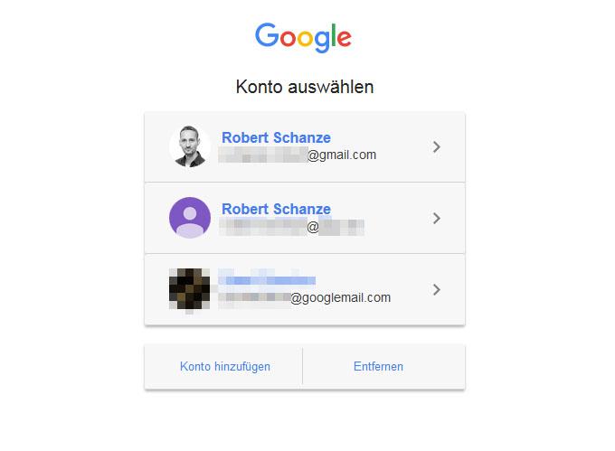 google konto ändern handy