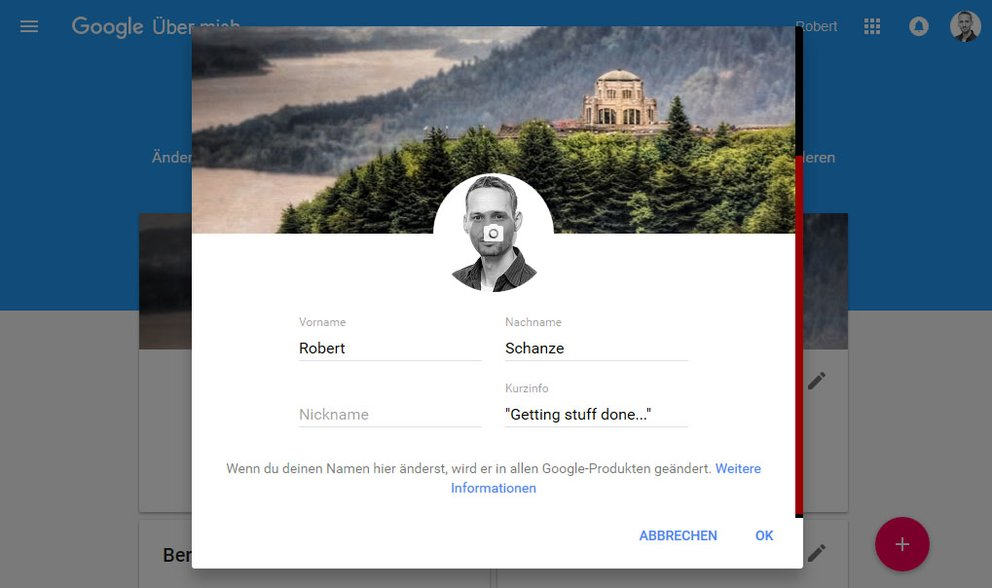 Google konto nickname