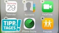 iOS-Apps löschen: Aktien, Karten, Mail, Apple Watch, Home, iTunes Store entfernen