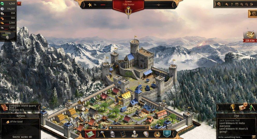 Legends of Honor: Von eurer Burg aus verwaltet ihr das Herrschaftsgebiet.