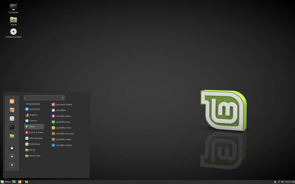 Linux Mint 18 sieht auf den ersten Blick sehr modern aus.