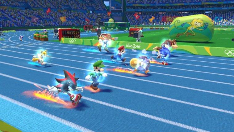 Mario und Sonic bei den Olympischen Spielen in Rio 2016: Klassische Disziplinen wie der 100m-Lauf dürfen natürlich nicht fehlen.