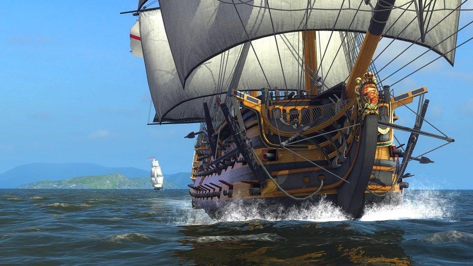Naval Action: Ihr übernehmt die Kontrolle über realistische Schiffe und spürt den Wellengang.