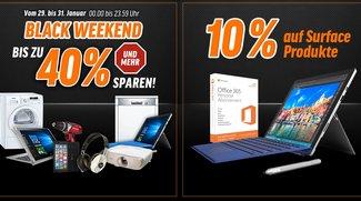 Notebooksbilliger Black Weekend: Surface Pro 4 mit 10%-Rabatt uvm. bis zu 40%-Rabatt