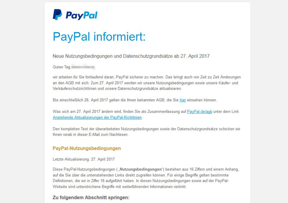 die agb von paypal ndern sich 27 april 2017 e mail echt oder betrug giga. Black Bedroom Furniture Sets. Home Design Ideas