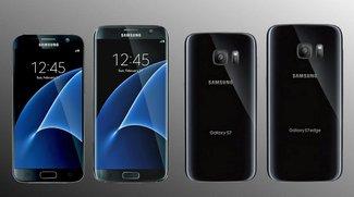 Samsung Galaxy S7: Bild von der Seite, Always-On-Display, Wallpapers und wasserdichtes Gehäuse