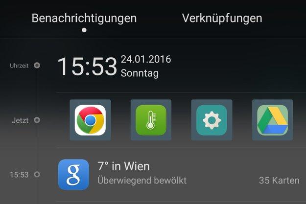 Shortcuts: Lieblings-Apps bequem in die Benachrichtigungsleiste holen