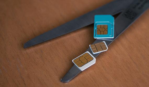 Sim Karte Mit Schablone Zuschneiden Micro Nano