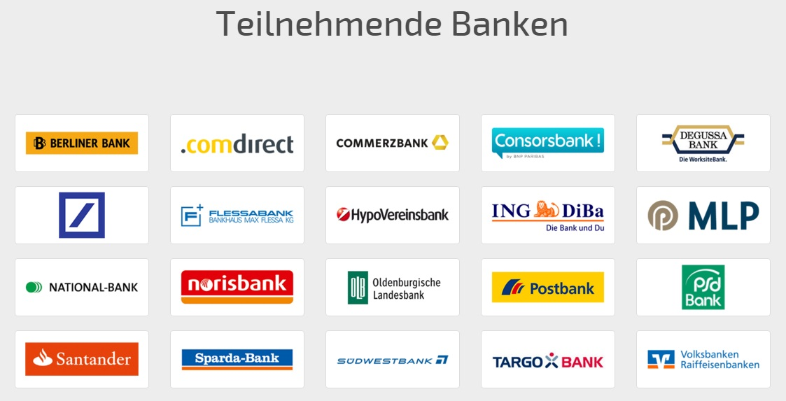 sofortüberweisung teilnehmende banken