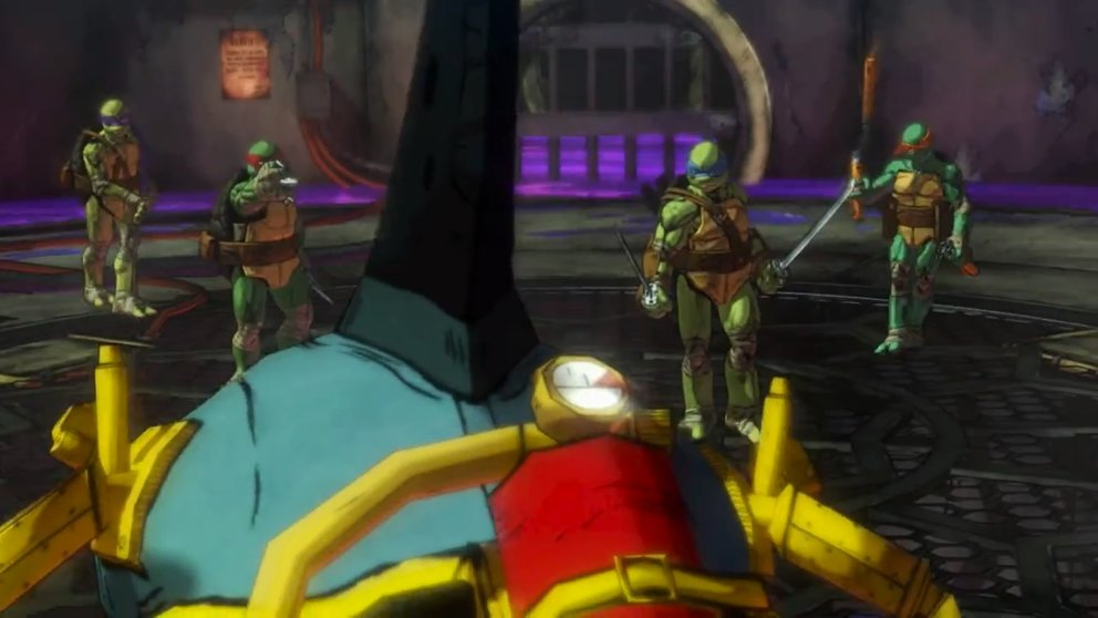 TMNT - Mutants in Manhattan: Die Turtles reinigen die Kanalisation von Ungeziefer.