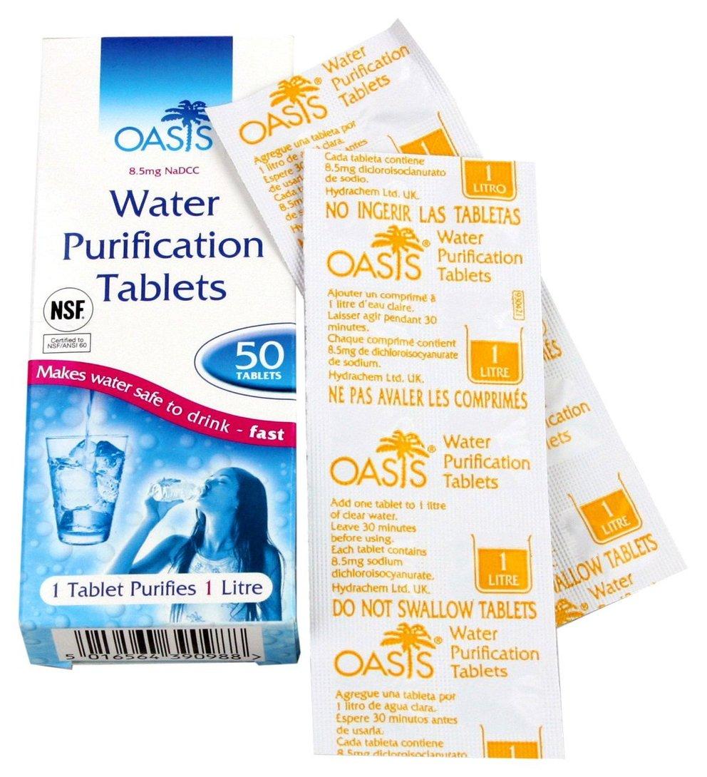 wasser kann auch mit tabletten gereinigt werden