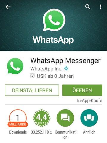 Im Google Play Store wird nur selten die aktuelle WhatsApp-Version zum Download angeboten.