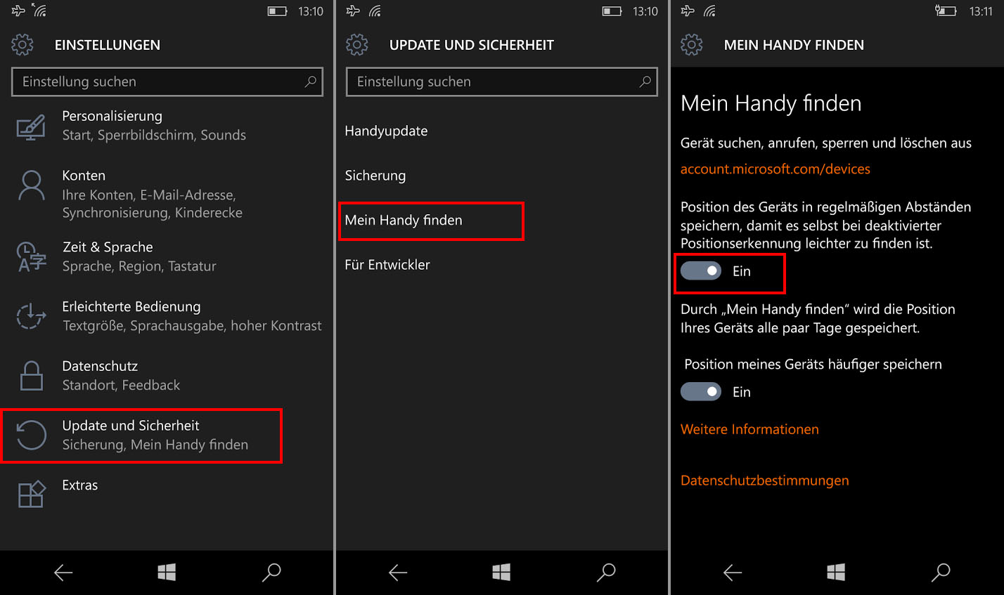 Handy Ortung mit dem Windows Phone – So geht's