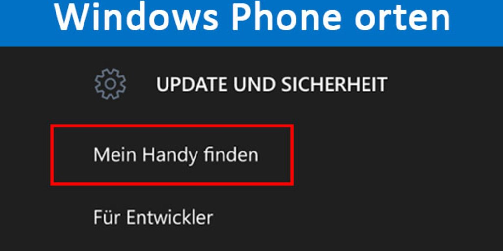 mein handy orten windows phone
