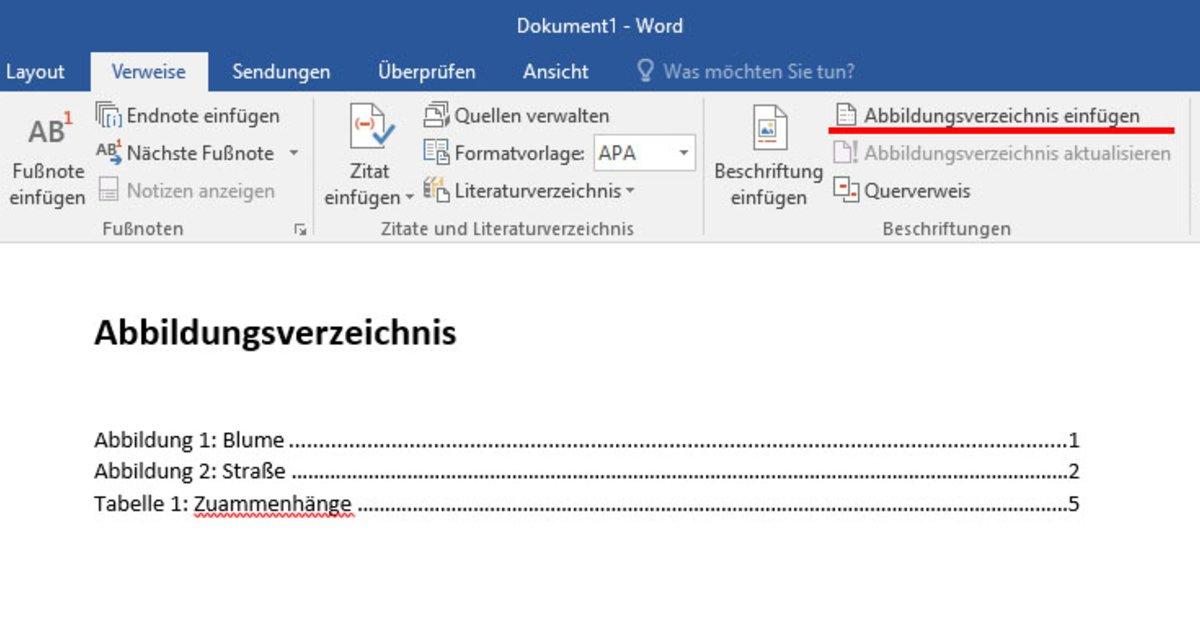 Word: Abbildungsverzeichnis erstellen – so geht\'s – GIGA