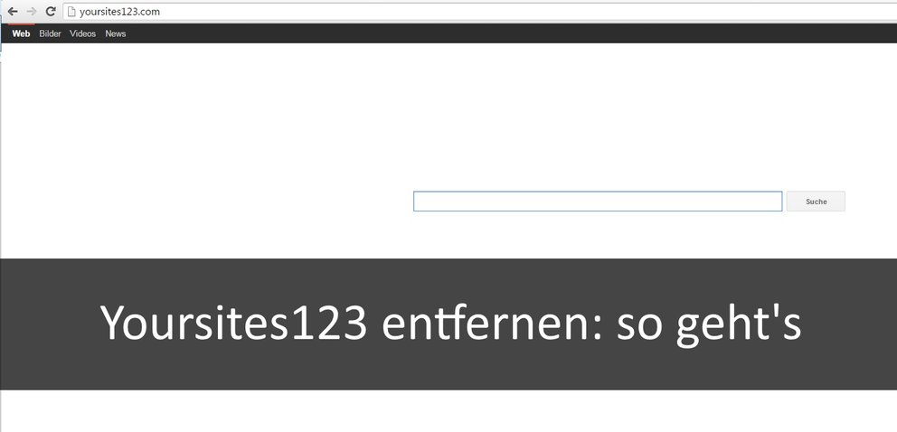 Yoursites123 entfernen aus Firefox, Google Chrome und Co.