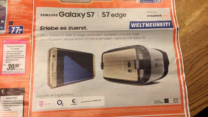Samsung Galaxy S7 Und S7 Edge Saturn Prospekt Verrät Deutsche