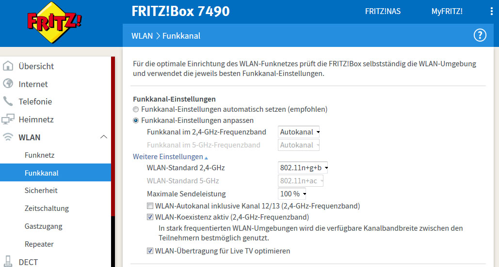 Fritzbox 7490 Wlan Ausschalten