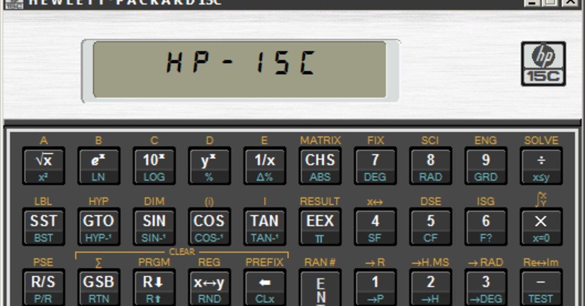 hp 15c emulator windows 10